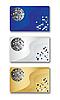Шаблоны визиток с дискошаром | Векторный клипарт