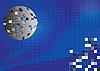 blauer Hintergrund mit Disco-Kugel