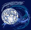 blaues Design mit Disco-Kugel