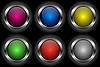 runde glänzende Web-Buttons