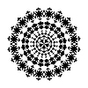 Schwarzweißes Kreis-Ornament