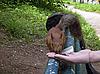 ID 3062823 | Eichhörnchen auf der Bank isst aus weiblicher Hand | Foto mit hoher Auflösung | CLIPARTO