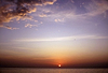 Zachód słońca nad morzem | Stock Foto