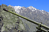 Weather gun between mountains of North Osetia | Stock Foto