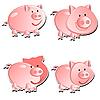 Set of piglets