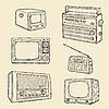 Retro Fernseher und Radio