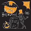 Halloween und Friedhof