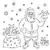 Santa Claus mit Geschenken | Stock Vektrografik