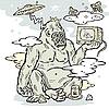 Grunge-Design mit Gorilla