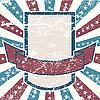 ID 3082483 | Американская гранж-рамка с полосами и звездами | Векторный клипарт | CLIPARTO