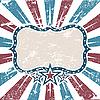 Amerikanischer Grunge-Rahmen mit Streifen und Sternen