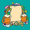 Rahmen für Bier-Party