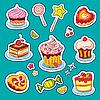 ID 3097346 | Słodycze wakacyjne Naklejki | Klipart wektorowy | KLIPARTO