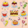 Kuchen und Süßigkeiten