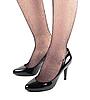 Gir `nogi sl w czarnych lakierki wysokie buty na obcasie | Stock Foto