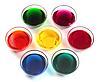 Miski szklane z barwników | Stock Foto