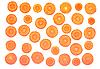 Świeże plasterki marchew | Stock Foto