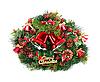 ID 3109074 | 두 개의 빨간색 크리스마스 종소리와 녹색 화 환 | 높은 해상도 사진 | CLIPARTO