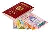 ID 3060708 | Russischer Paß mit der Währung von Venezuela | Foto mit hoher Auflösung | CLIPARTO