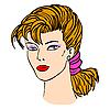 女人的脸 | 向量插图