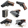 Set of pistols | Stock Foto