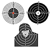Set targets for practical pistol shooting | Stock Vector Graphics