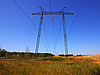 Stromnetz im Feld | Stock Foto