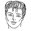 ID 3068959 | 남자`s는 얼굴 | 벡터 클립 아트 | CLIPARTO