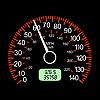 Auto Geschwindigkeitsmesser von Racing-Design.