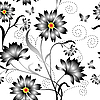 Vektor Cliparts: nahtloser Blumenhintergrund