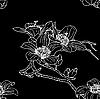 Vektor Cliparts: Nahtlose Tapete mit Orchideenblüten