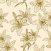 Vektor Cliparts: Nahtlose Tapete mit schönen Blumen