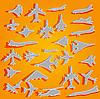 Vektor Cliparts: Flugzeug Aufkleber
