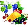 Vektor Cliparts: Reihe von Obst