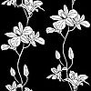 Vektor Cliparts: nahtlose Hintergrund mit Orchideen
