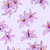 Vektor Cliparts: Schönes nahtloses Blumenmuster