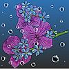 Vektor Cliparts: floral Hintergrund mit einem Hand gezeichneten Geschmack der blühende Frühling Bl