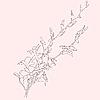 Vektor Cliparts: Hintergrund mit blühenden Blumen