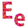 Vektor Cliparts: Blumen-Alphabet aus roten Rosen, Zeichen Ee