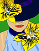 Vektor Cliparts: elegant Sommer Mädchen