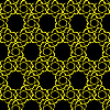 Vektor Cliparts: Pattern mit dem Bild einer Silhouette von fliegenden Atom