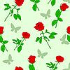 Vektor Cliparts: Nahtloser Hintergrund mit Rosen