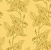 Vektor Cliparts: Rose nahtlose Hintergrund Blume,.