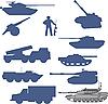 ID 3075416 | Set von Tanks collection | Stock Vektorgrafik | CLIPARTO