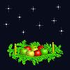 Adventskranz mit Kerzen und Äpfeln | Stock Vektrografik