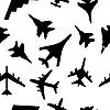 ID 3075900 | Nahtloses Pattern von Militärflugzeugen | Stock Vektorgrafik | CLIPARTO