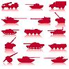 Set von Panzern und Kanonen