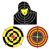 Set of targets for practical pistol shooting | Stock Vector Graphics