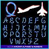 Kunstflug mit Flugzeug - Buchstaben und Ziffern