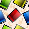 Nahtloses Muster von Tablet-Computern